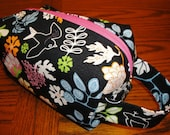 Navy Floral Box Pouch