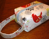 White Floral/Bird Box Pouch