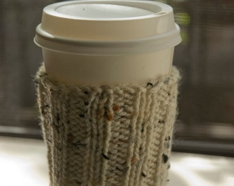 Knitted CUP COZY - Light Beige