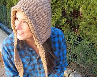 Pixie Hood - light brown