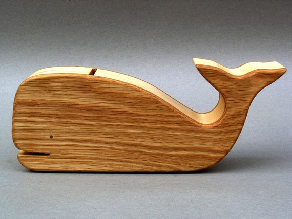 Whale Piggy Bank Wooden Animal Coin Banks Baby Showers Gifts for Children  Kids,  Boys and Girls Money Bank Save the Whales Birthday Party