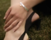 """1/4"""" Personalized Hand Stamped Bangle- Great Gift Ideas-Unisex"""