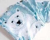 Baby Blue Arctic Polar Bear Warm Fleece Scarf