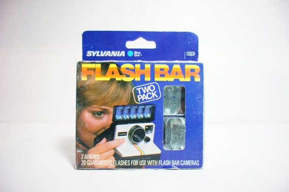 Pair of Flash Bars for SX-70 Polaroid Cameras New Old Stock