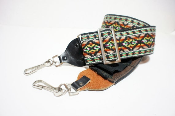 Vintage Red, Green and Yellow Southwest Camera Neck Strap