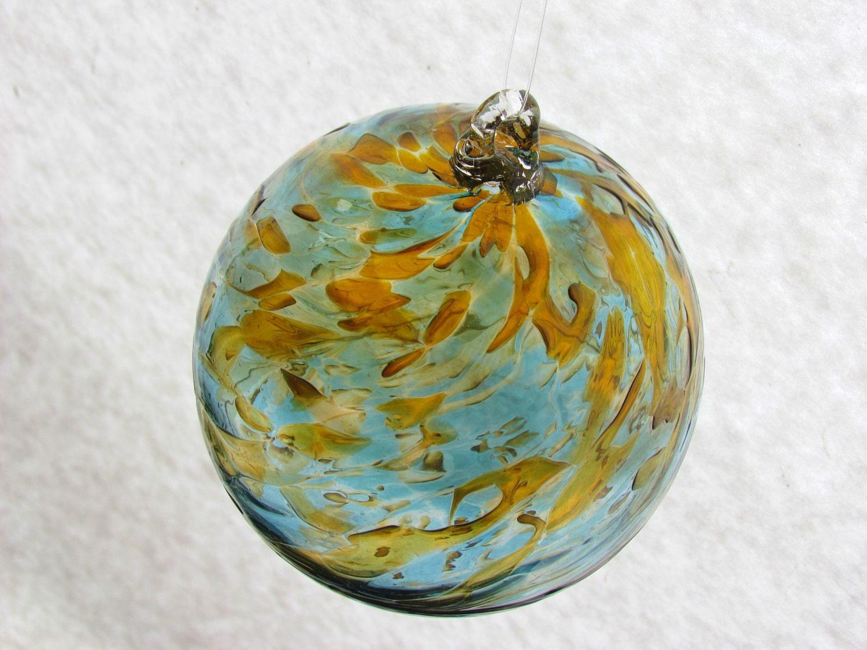 Large hand blown glass spirit ball by vibrantstainedglass