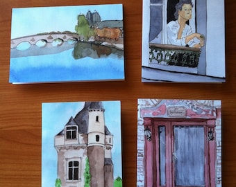 Greeting Cards - Scenes from France - Set 1