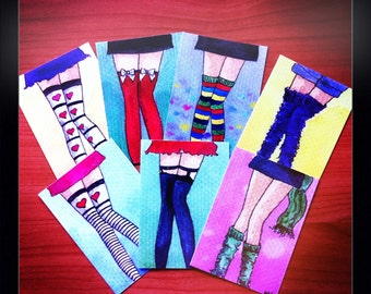 ACEO PRINTS - Legs -  7 pack