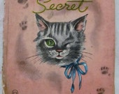 "Adorable Whitman Antique ""Pussy Cat's Secret"" Children's Book - 1949"
