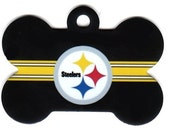 Pet ID Tag Pittsburg Steelers Free Shipping