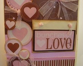 Valentine Bunches of love heart card