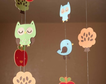 Mobile Skip Hop Treetop Friends Owl Themed Beautiful Birthday or Baby Shower Mobile