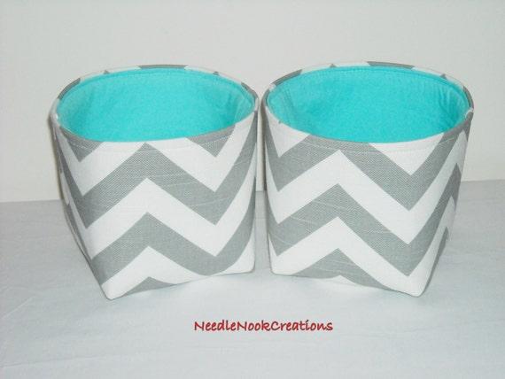 Small Fabric Baskets Organizer Bins Storage Bins Gray And