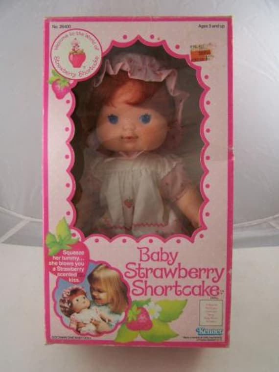 Items Similar To Reduced Strawberry Shortcake Blow Kiss Doll With Original Box 1982 Kenner Rare
