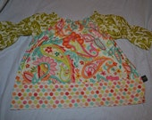 Paisley peasant top girls size 3t