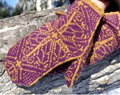 Regal Mittens Knitting Pattern PDF