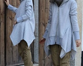 Asymmetrical Zippered  Jacket/ 8 Colors/ Any Size/ RAMIES