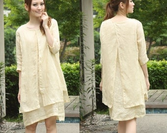 Charming and Disarming Two Layers dress/ tunic / 17 Colors/ RAMIES