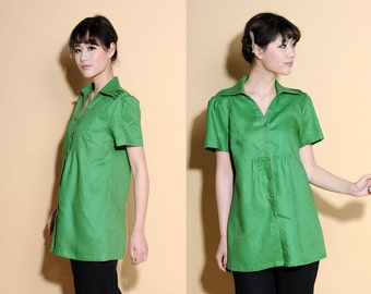 Wings of the Swallow Puff Sleeve Blouse/ 27 Colors/ RAMIES