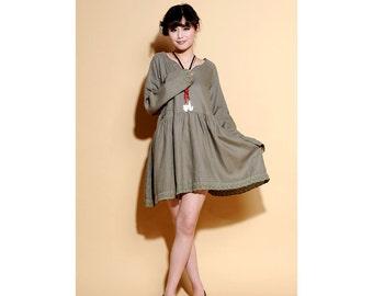 Effervescent Babydoll Lace-hemmed Dress/ 6 Colors/ RAMIES