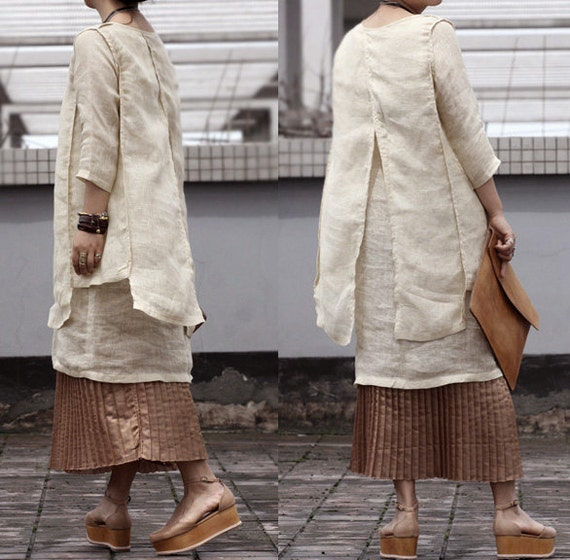 Charming and Disarming Two Layers dress/ tunic / 20 Colors/ RAMIES