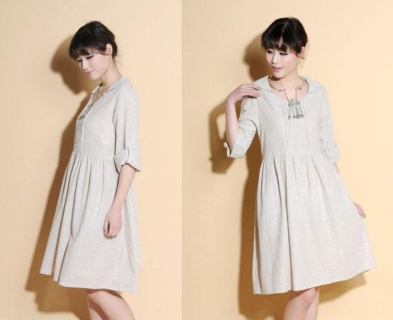 Snow White Collar High Waist Dress/ 28 Colors/ RAMIES