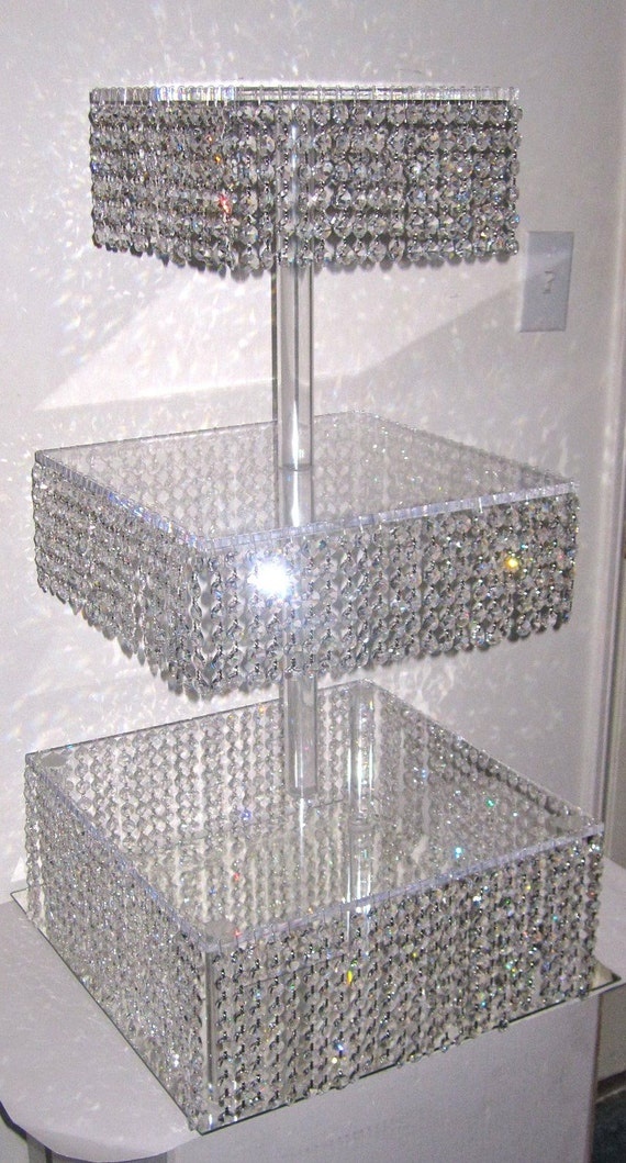 Black Glass Cake Stand