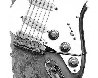 Electric Guitar - print