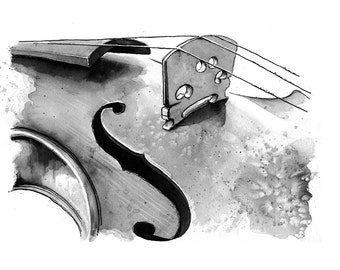Violin -  limited edition print