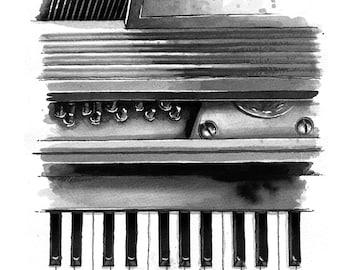 Piano - print