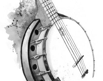 Banjo - print