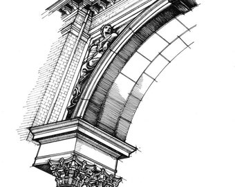 Savannah Architecture Ink - print