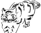 Tiger - Notecard, set of 5