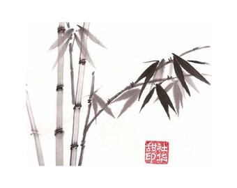 Bamboo - Brown - Notecard, set of 5