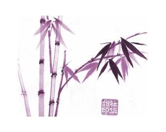 Bamboo-Pink - Set of five notecards