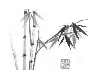 Bamboo-Black-Set of five notecards