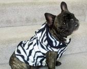 French Bulldog Zebra Fleece Hoodie