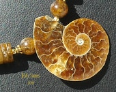 RESERVED FOR KIMIE  Ammonite and Baltic Amber Necklace