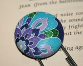 Stocking Stuffer Purple and Blue Floral  Bookmark