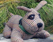 Poochie 1 Upcycled Wool Plaid Puppy