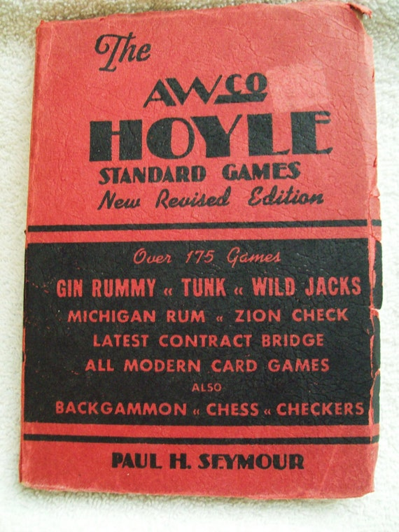 Vintage Hoyle Games Book-1945 Contract Bridge, Gin Rummy, Tunk, Chess etc.
