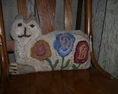 Rug Hooking Posy Kitty PATTERN FAAP
