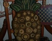 Primitive Rug Hooking Pattern Penny Pineapple Pillow
