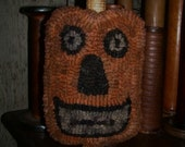 Folk Art Jack O' Lantern Make Do Rug Hooking Pattern