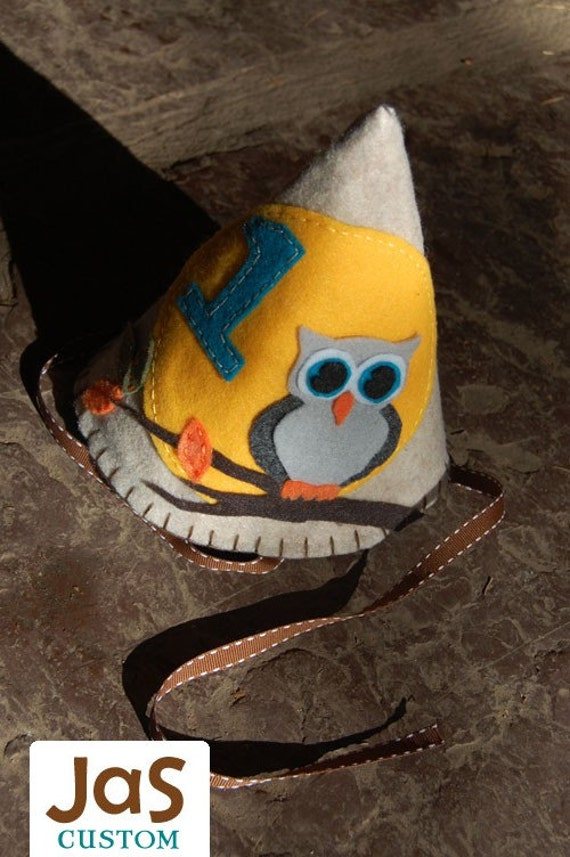 JaS Custom Boys Felt Birthday Hat