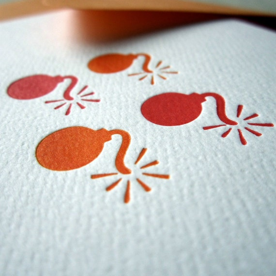 letterpress greeting card - have a blast