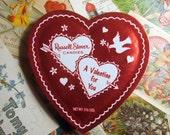 Vintage Valentine Heart Shape Candy Box