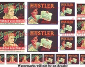 8.5 by 5.5 waterslide decals - Vintage Labels - HS-14