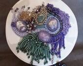 Purple Haze Beaded Art Piece - RESERVED