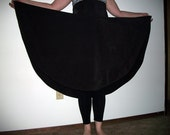 Circle skirt, high waisted, brown wool or thick cotton
